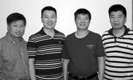 Winners of the 0-5000 Mini-Spingold: Peter Wong, Edward Xu, Jianfeng Luo and captain Yan Wang.