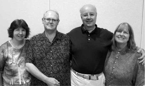 Winners of the Freeman Mixed BAM Teams: Joan Eaton, Michael Roche, Nader Hanna and Karen Cumpstone.