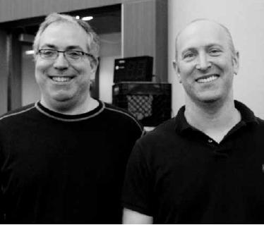 Blue Ribbon Pairs winners Brian Platnick andJohn Diamond.